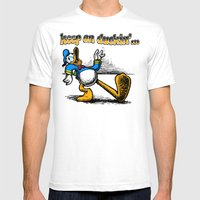 Keep On Duckin Mens Fitted Tee White SMALL