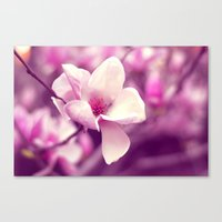 Lonely Flower - Radiant Orchid Canvas Print