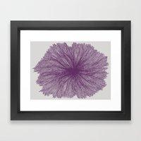 Jellyfish Flower A Framed Art Print