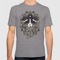 A Lady And Her Skulls (P… Mens Fitted Tee Tri-Grey SMALL
