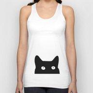 Black Cat Unisex Tank Top