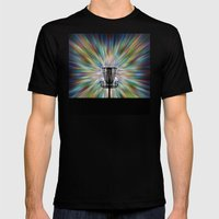 Disc Golf Basket Silhoue… Mens Fitted Tee Black SMALL