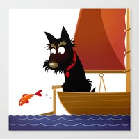 Groovy Sails Canvas Print