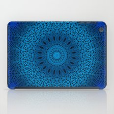 Blue Dotted Mandala iPad Case