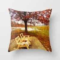 Come Sit, Stay Awhile... Throw Pillow