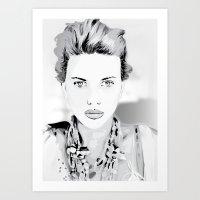 Scarlett-Johansson Art Print