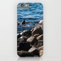 iPhone & iPod Case featuring Rocks on the Water by Dana E