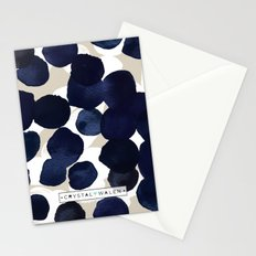Indigo Velvet Dots Stationery Cards
