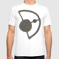 Earth And Moon Mens Fitted Tee White SMALL