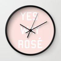 Yes Way Rosé Wall Clock