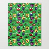 Sesame Street Pattern Canvas Print