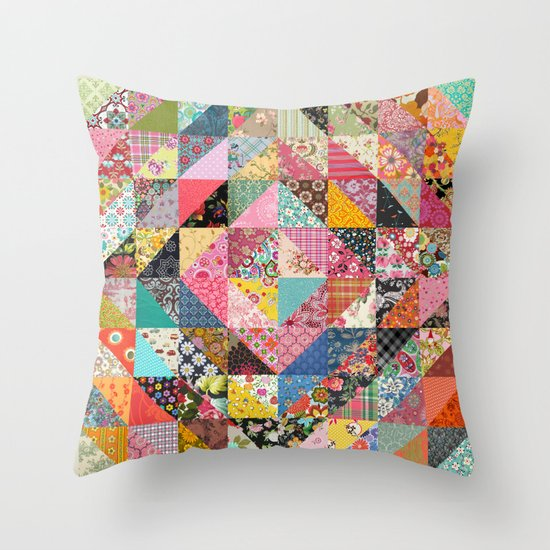 Grandma's Quilt Throw Pillow