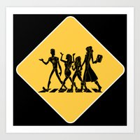 Hollowmentary Crossing Art Print
