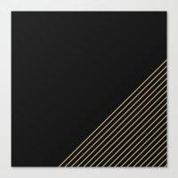 Tan & Black Stripes  Canvas Print