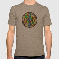 Mandala: Soul Mates Mens Fitted Tee Tri-Coffee SMALL