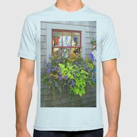 Nantucket Window box Mens Fitted Tee Light Blue SMALL