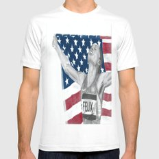 Allyson Felix Mens Fitted Tee White SMALL