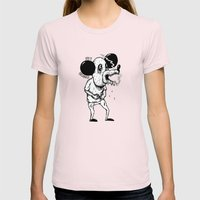 100% ORGANIC! Womens Fitted Tee Light Pink SMALL