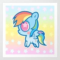 My little Rainbow Dash! Art Print