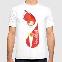 I am still hot... it now just comes in flashes Mens Fitted Tee White SMALL