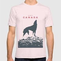 Visit Canada Mens Fitted Tee Light Pink SMALL