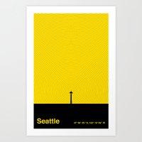 Seattle (47°36′35″N, 122°19′59″W) Art Print