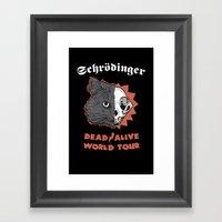 Schrödinger - DEAD/ALIV… Framed Art Print