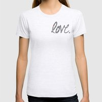 Love Zentangle  Womens Fitted Tee Ash Grey SMALL