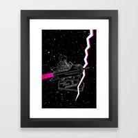 Space Journey Framed Art Print