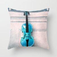 Violin IV Throw Pillow