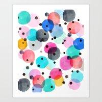 Festive Dots Art Print