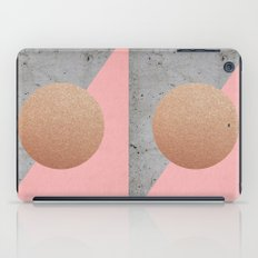 Abstract Shapes Rose Gold iPad Case