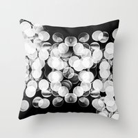 Bokeh Symmetry 3 Throw Pillow
