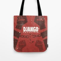 Django Unchained -  Quentin Tarantino Minimal Movie Poster Tote Bag