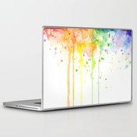 Laptop & iPad Skin featuring Watercolor Rainbow by Olechka