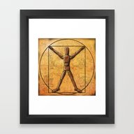 Framed Art Print featuring Vitruvian Mannequin by Kevin Rogerson