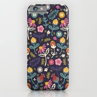 iPhone Cases featuring Ditsy Flowers by Poppy & Red