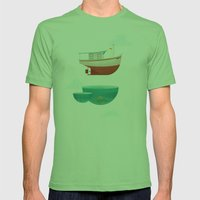 Floating Boat Mens Fitted Tee Grass SMALL