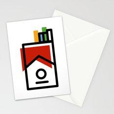 cigarette pack minimal Stationery Cards