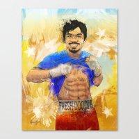 Manny Pacquiao - Pound 4… Canvas Print