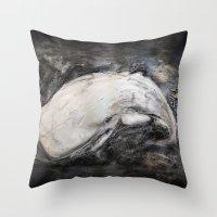 The White Whale Throw Pillow