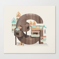 Resort Type - Letter G Canvas Print