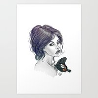 The Red Helen Art Print