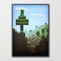 Pixel Art Series 9 : Cre… Canvas Print