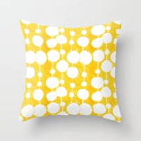 Big Fat Drops (yellow) Throw Pillow