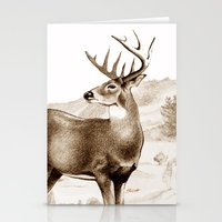 White-tailed Stag Sniffi… Stationery Cards