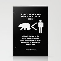 Bears & Man (Strange Wil… Stationery Cards