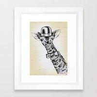 I'm too SASSY for my hat! Giraffe. Framed Art Print