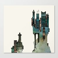 mountain castle Canvas Print