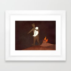 Afraid of Fire Framed Art Print